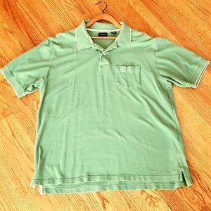 IZOD Men's Size XL Green Short Sleeve Polo